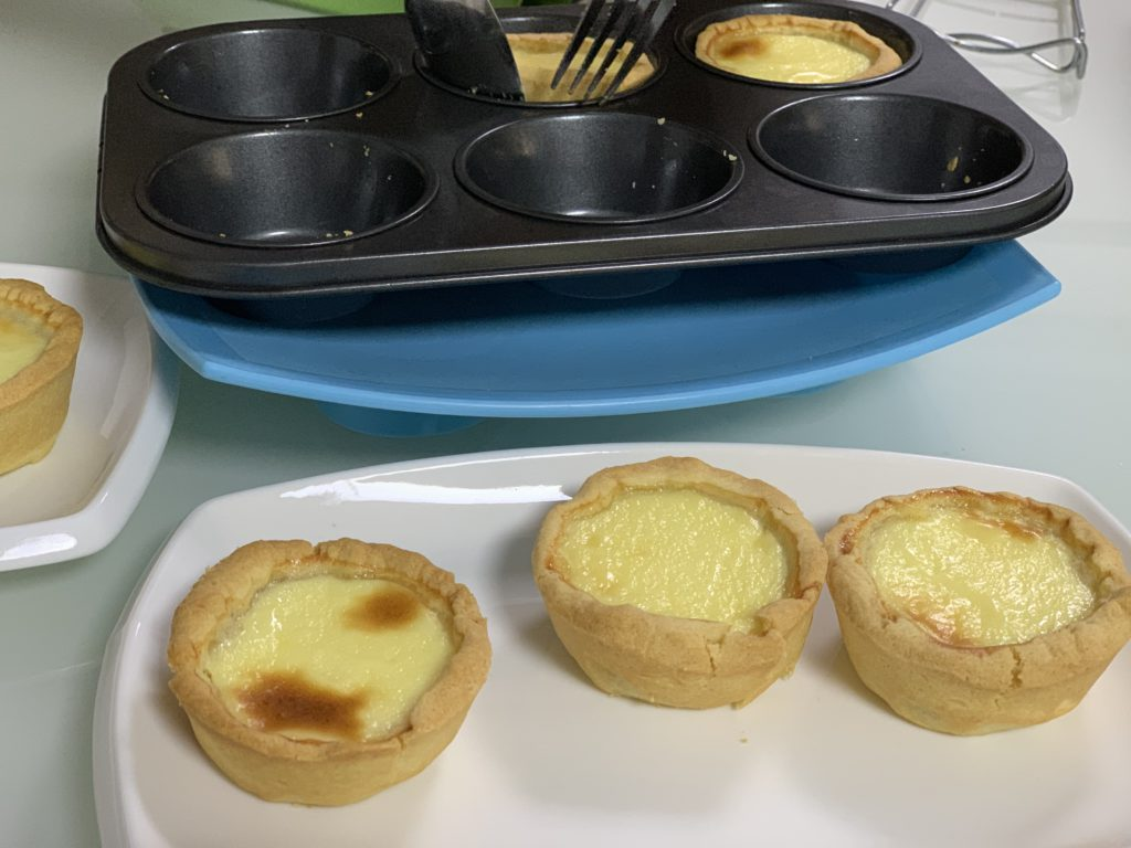 hmmm Easy Egg Tarts Recipe, ready to serve