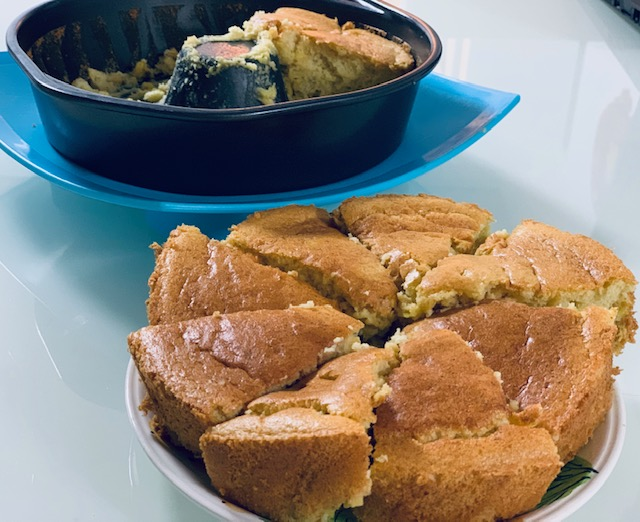 Sweet Corn Chiffon Cake