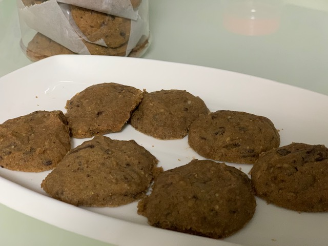 famous foodscream chocolate cookies with almond nuts